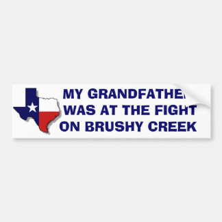 FIGHT ON BRUSHY CREEK - Customized Bumper Sticker