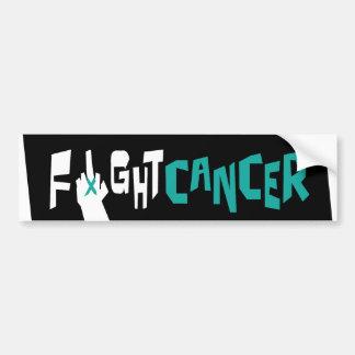 Fight Ovarian, Uterine & Cervical Cancer Bumper Sticker