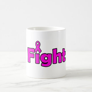 Fight Pink Ribbon Coffee Mug Breast Cancer Month