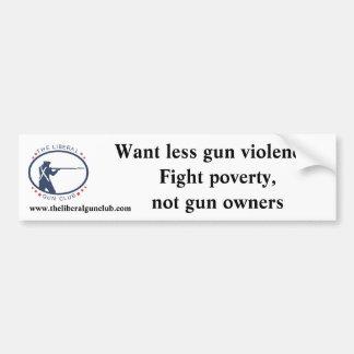 Fight Poverty bumper sticker