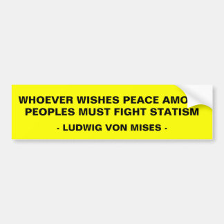 Fight Statism Bumper Sticker