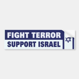 Fight Terror Support Israel Bumper Sticker