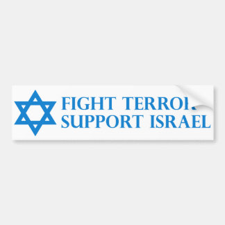 Fight Terror, Support Israel Bumper Sticker