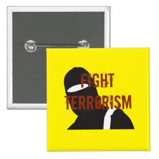 Fight Terrorism 15 Cm Square Badge