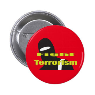 Fight Terrorism 6 Cm Round Badge