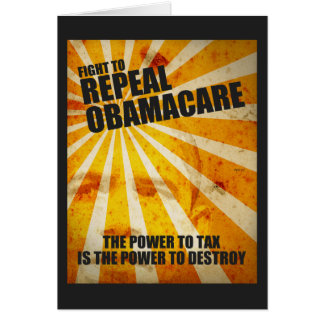 Fight To Repeal Obamacare Card