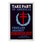 Fight Tuberculosis 1940 WPA Print