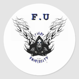 Fight University Classic Round Sticker
