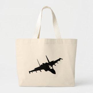 Fighter aircraft jumbo tote bag