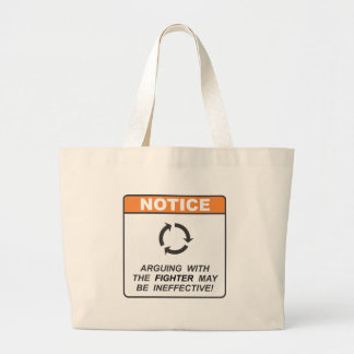 Fighter / Argue Jumbo Tote Bag