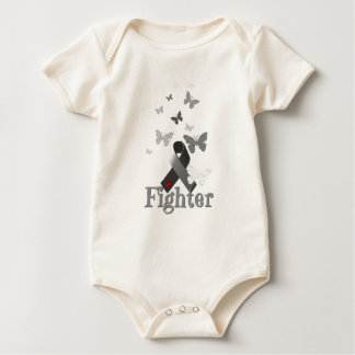 Fighter Diabetes Awareness Ribbon Baby Bodysuit