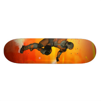 Fighter in the sunset skateboard deck