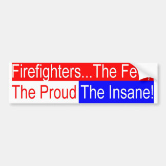 fighter insane bumper sticker