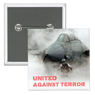 Fighter jet aircraft: United against terror 15 Cm Square Badge