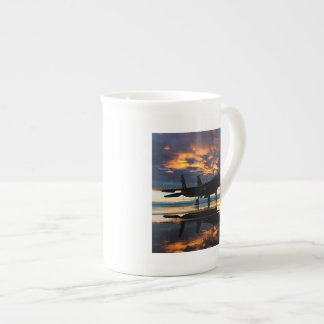 Fighter Jet Airplane at Sunset Military Gifts Tea Cup