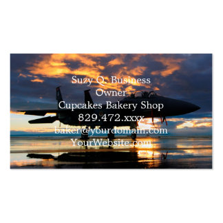 Fighter Jet Airplane at Sunset Military Gifts Pack Of Standard Business Cards
