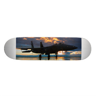 Fighter Jet Airplane at Sunset Military Gifts Skate Board