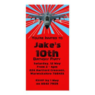 Fighter Jet Birthday Party Invitation