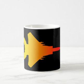 Fighter Jet Black Red/Yellow White Coffee Mug