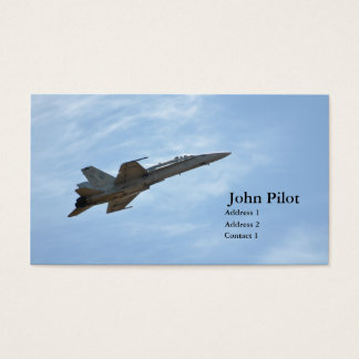 Fighter Jet Business Card