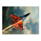 Fighter Jet Military aeroplane speed Postcard