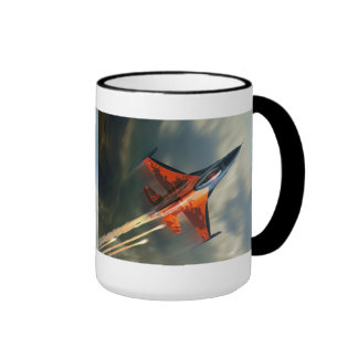 Fighter Jet Military airplane speed Ringer Coffee Mug