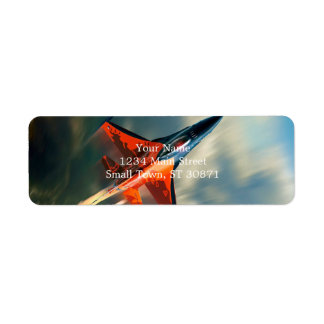 Fighter Jet Military airplane speed Return Address Label