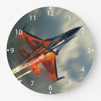 Fighter Jet Military airplane speed Wall Clock