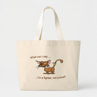 Fighter Not Lover Canvas Bags