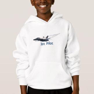Fighter Pilot F/A-18 Hornet Jet Plane Kids Hoodie