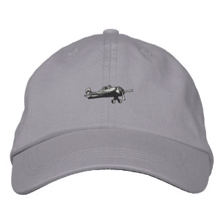 Fighter Plane Embroidered Hat