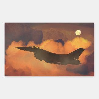 Fighter plane rectangular sticker