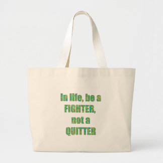 FIGHTER Quitter Quote Wisdom TEMPLATE Resellers Bags