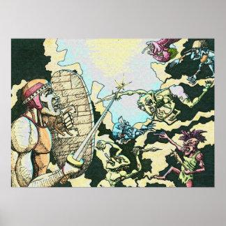 Fighter v Goblins Poster