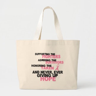 Fighters Survivors Taken 3 Breast Cancer Large Tote Bag