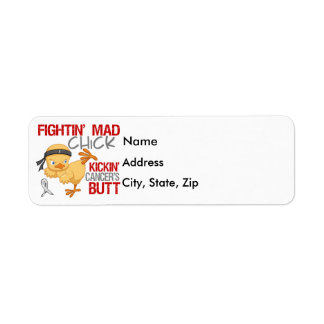 Fightin Chick Lung Cancer Return Address Label