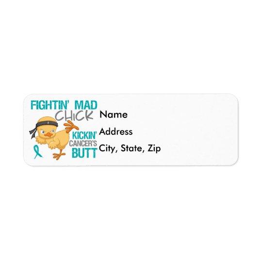 Fightin Chick Peritoneal Cancer Return Address Label