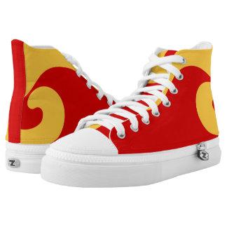 Fightin Fiery Wave III Designer Hi-Top Printed Shoes