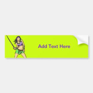 Fighting Amazon Women Bumper Sticker