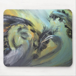 """Fighting Bird"" Mouse Pad"