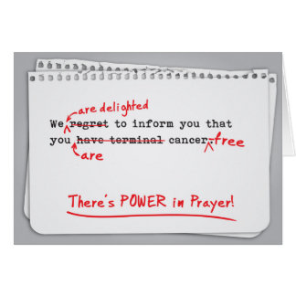 Fighting Cancer - Power of Prayer for Healing Card