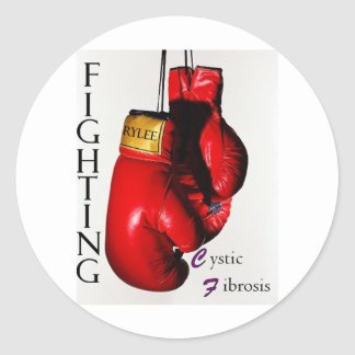 Fighting CF Ry Round Sticker