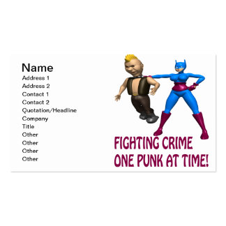 Fighting Crime One Punk At A Time Pack Of Standard Business Cards