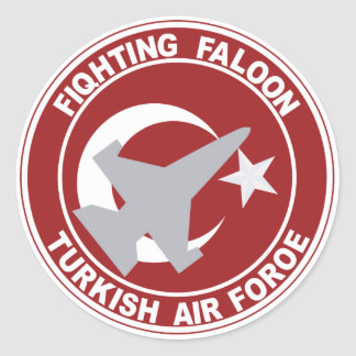 Fighting Faloon Turkish Air Force Military Patch Round Stickers
