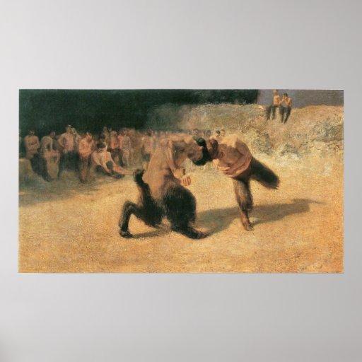 Fighting Faune by Franz von Stuck Poster