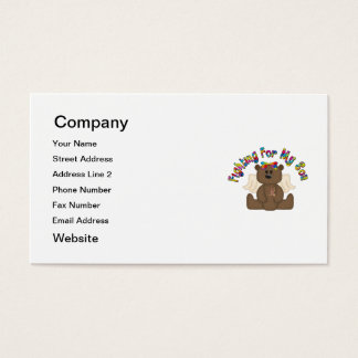 Fighting for my son (girl bear) business card