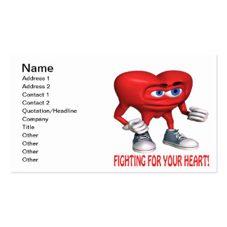 Fighting For Your Heart Pack Of Standard Business Cards