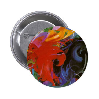 Fighting Forms by Franz Marc 6 Cm Round Badge
