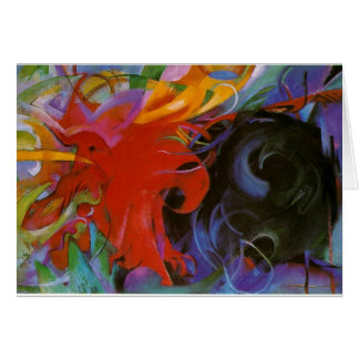 Fighting Forms by Franz Marc Card