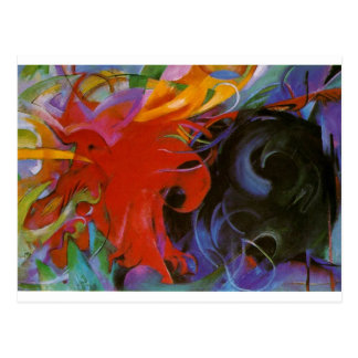 Fighting Forms by Franz Marc Postcard